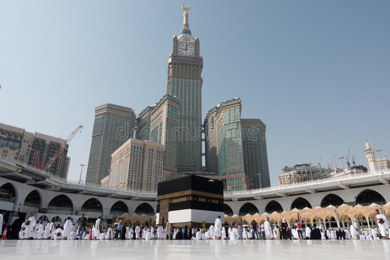 Kaaba im Mekka in Saudi-Arabien Leitartikel lizenzfreie stockfotos