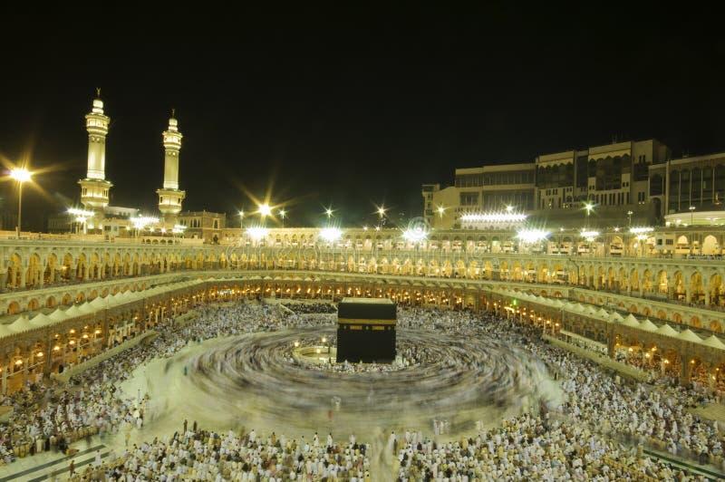 Kaaba in Makkah, Kingdom of Saudi Arabia. stock photo
