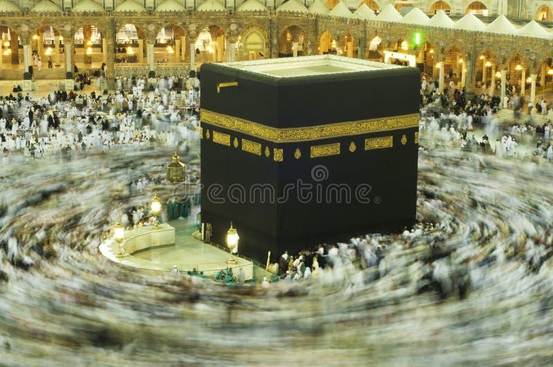 Kaaba in Makkah, regno dell'Arabia Saudita. immagine stock libera da diritti