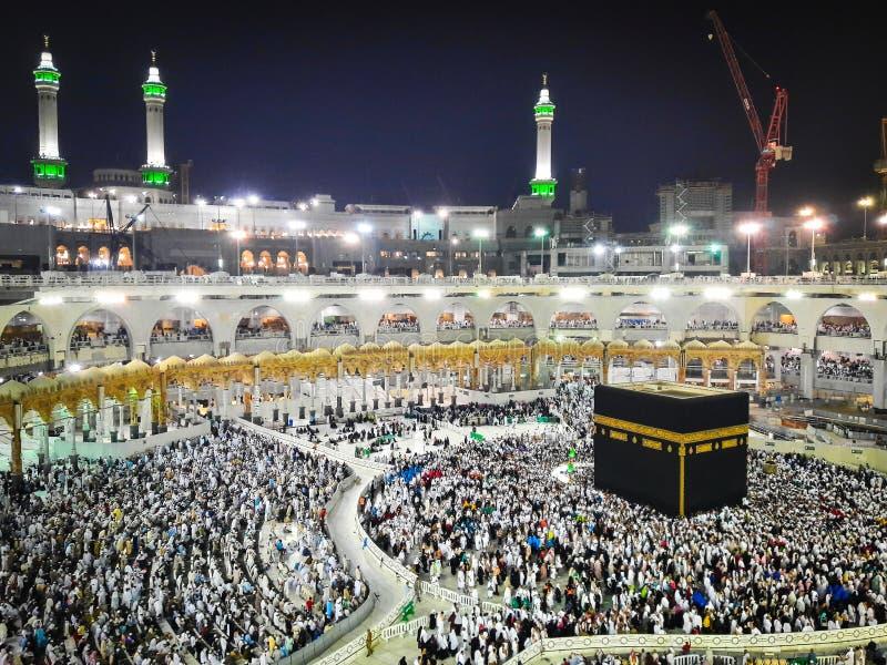 Kaaba in Makkah, Saudi-Arabien lizenzfreies stockbild