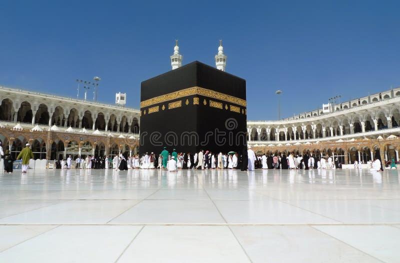 Kaaba in Mecca Wide Angle lizenzfreie stockbilder