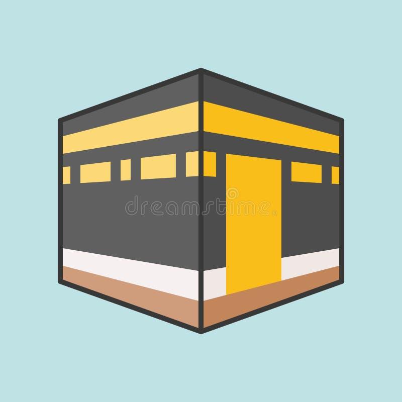 Kaaba Mecka eller kabah royaltyfri illustrationer