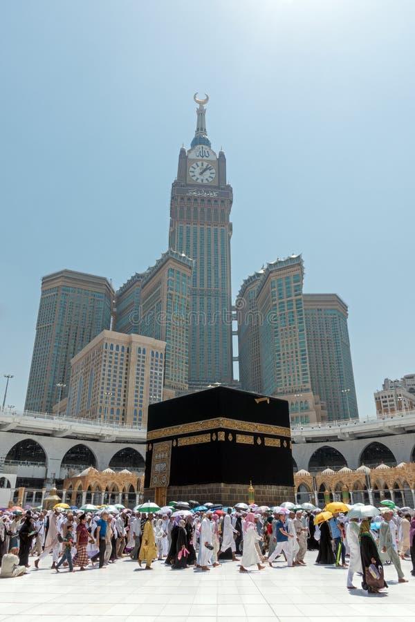 Kaaba in Mekka in het Hoofdartikel van Saudi-Arabië royalty-vrije stock fotografie