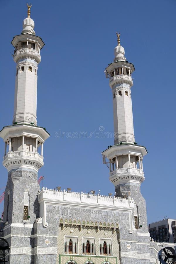 Kaaba minaret w mekce fotografia stock