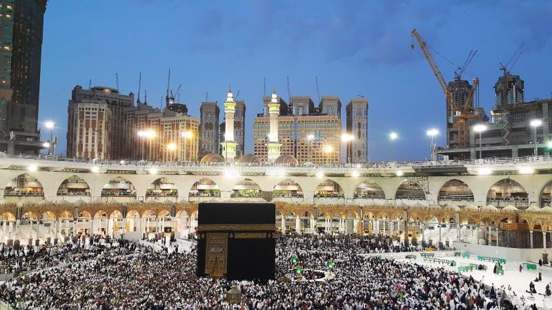 Kaaba po modlitwie Fajra fotografia royalty free