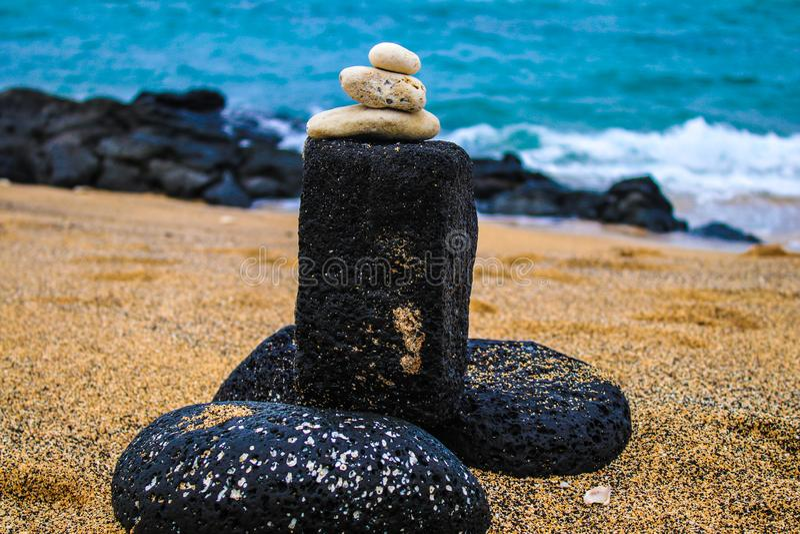 Kaanapali海滩在拉海纳,毛伊,夏威夷 免版税库存照片