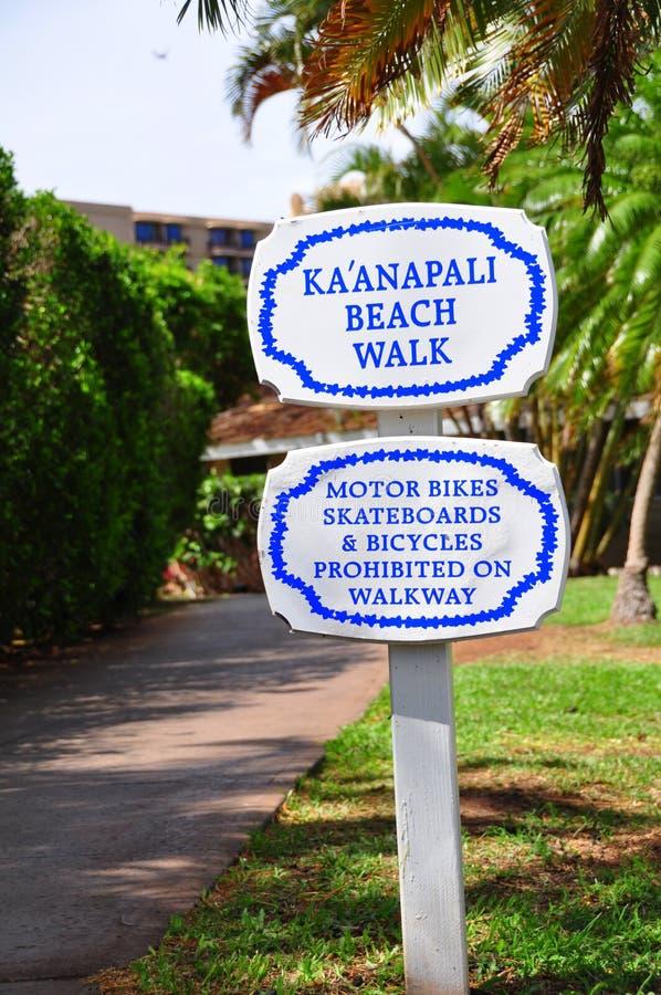 Kaanapali beach boardwalk royalty free stock photos