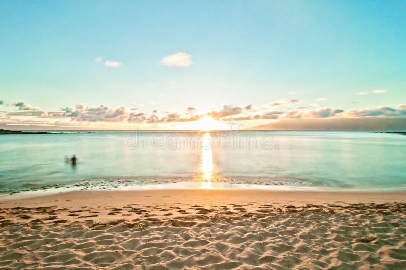 Kaanapali beach in West Maui, Hawaii royalty free stock photo