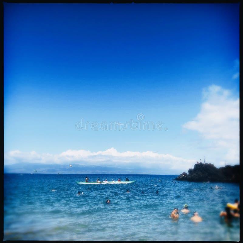 Kaanapali plaża w Maui zdjęcia royalty free