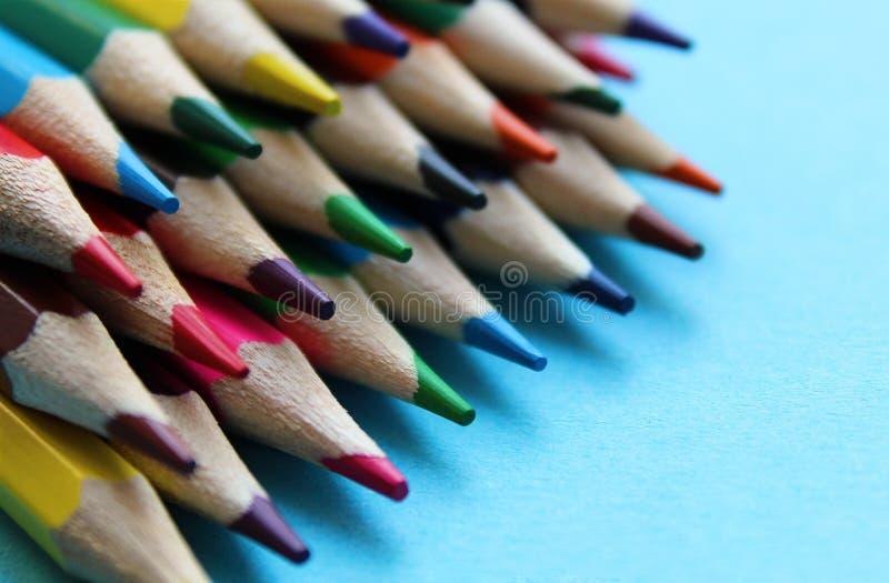 kaandashi colored sharp ground lying on the table royalty free stock photography