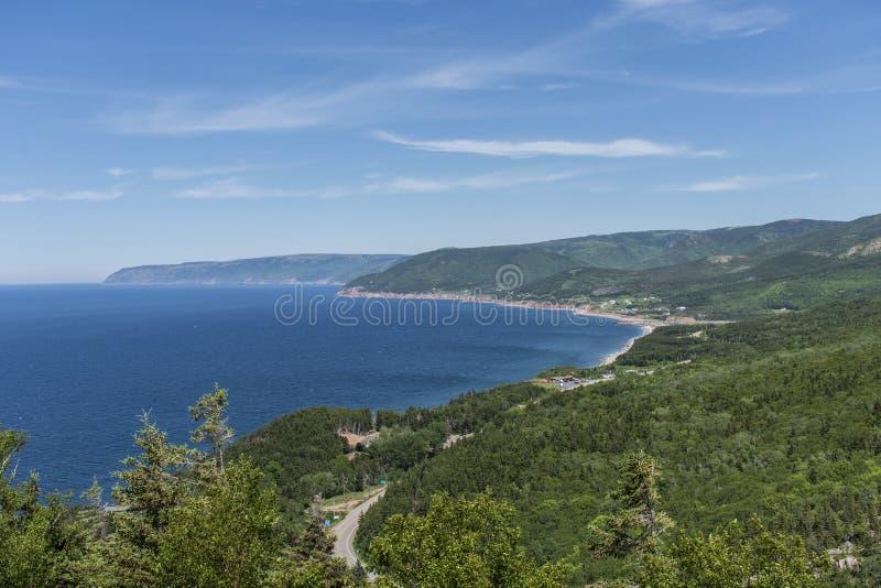 Kaap Bretons Eiland Cabot Trail stock fotografie