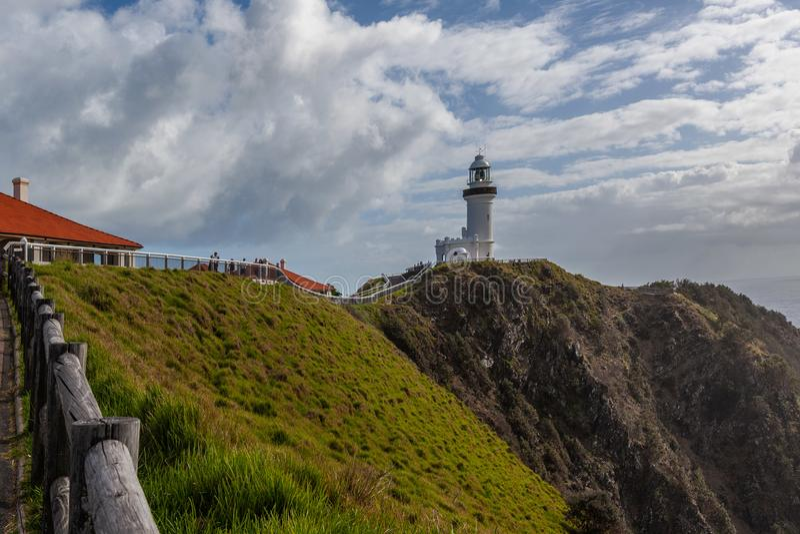 Kaap Byron Light - krachtigste vuurtoren in Australië royalty-vrije stock fotografie