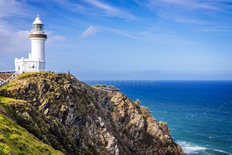 Kaap Byron Lighthouse, Byron Bay, Australië royalty-vrije stock afbeelding