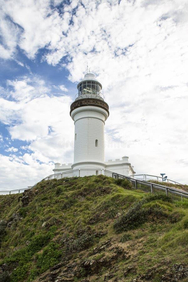 Kaap Byron Lighthouse, van onderaan stock fotografie