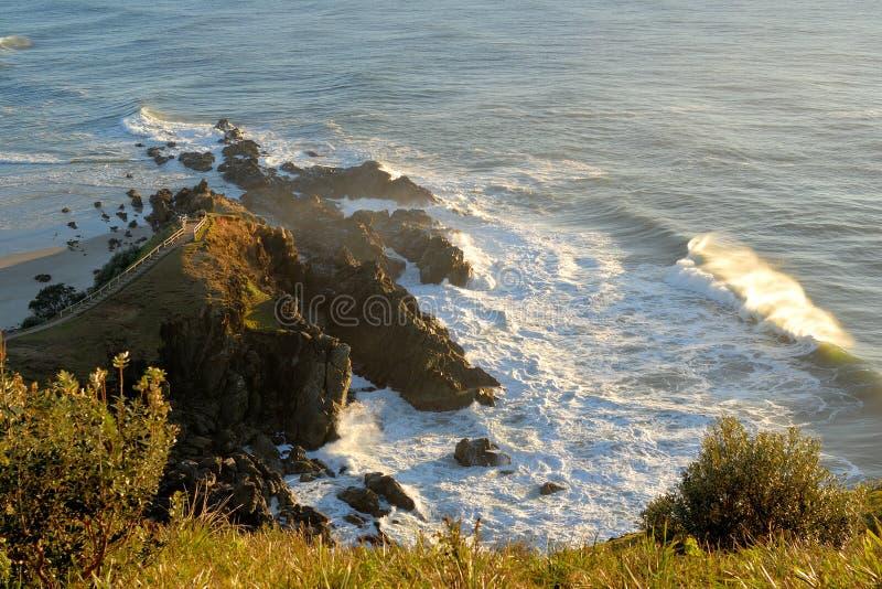 Kaap Byron in ochtendzonsopgang royalty-vrije stock afbeeldingen