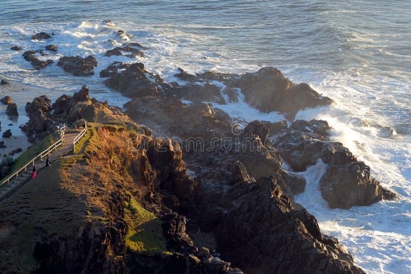 Kaap Byron in ochtendzonsopgang royalty-vrije stock afbeelding