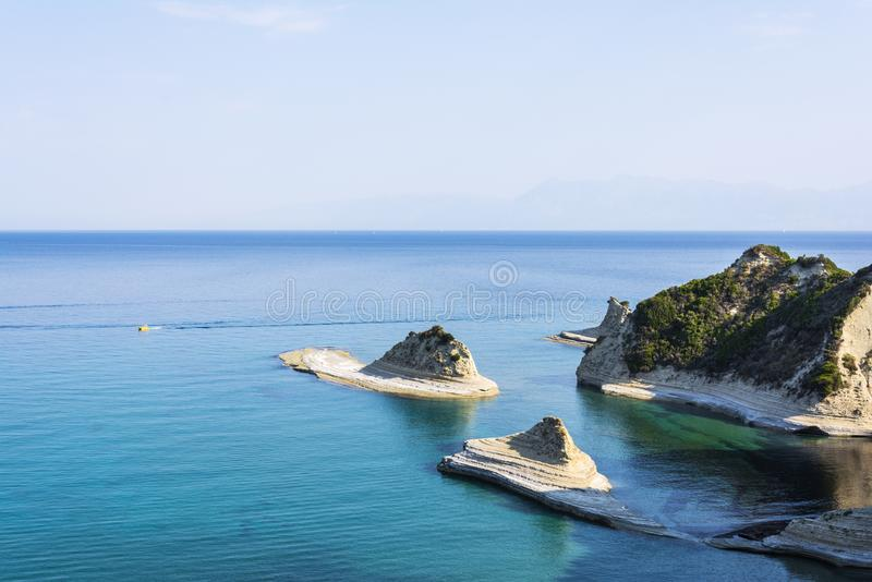 Kaap Drastis in het Eiland Korfu in Griekenland stock fotografie