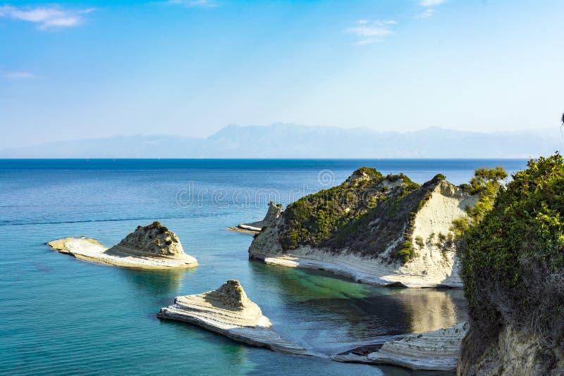 Kaap Drastis in het Eiland Korfu in Griekenland royalty-vrije stock fotografie