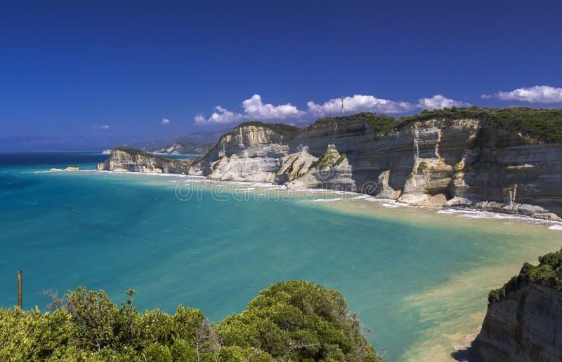 Kaap Drastis, Korfu stock afbeelding