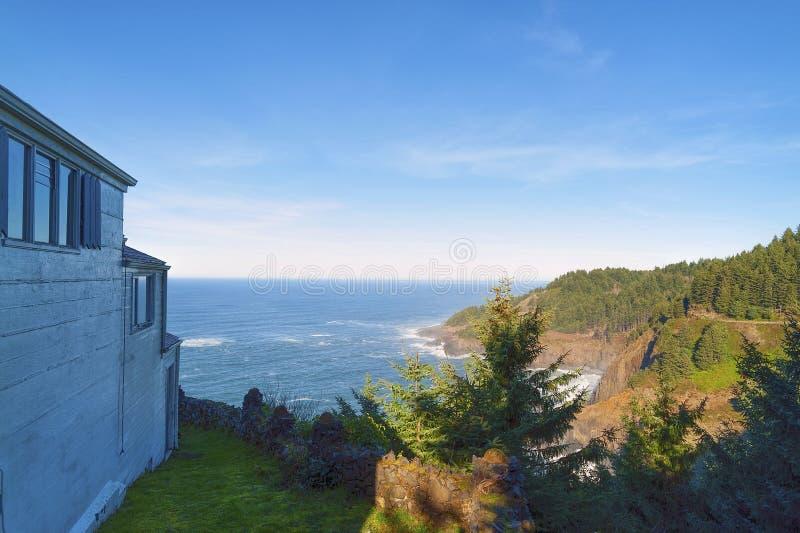 Kaap Foulweather, op de Kust van Oregon stock afbeeldingen