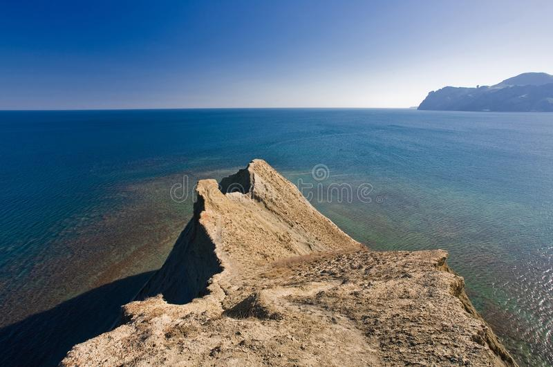 Kaap geroepen Kameleon in de uit uitgerekte Krim, royalty-vrije stock foto