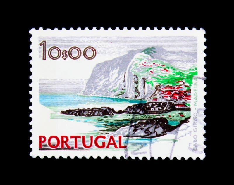 Kaap Girao, Madera, Landschappen en Monumenten serie, circa 1978 royalty-vrije stock afbeeldingen