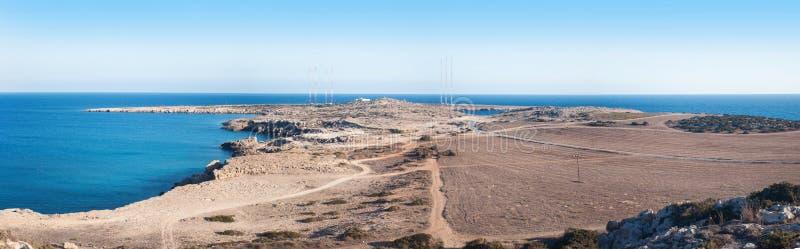 Kaap Greco of Cavo Greco, Agia Napa, Cyprus stock foto