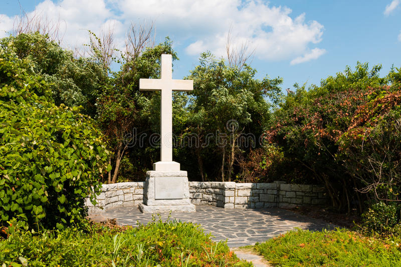 Kaap Henry Memorial voor eerst het Landen van Engelse Kolonisten royalty-vrije stock fotografie