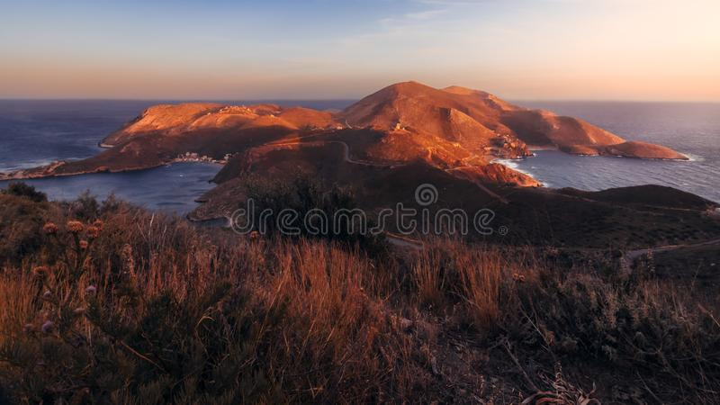 Kaap MatapanTenaro - de Peloponnesus, Griekenland stock afbeeldingen