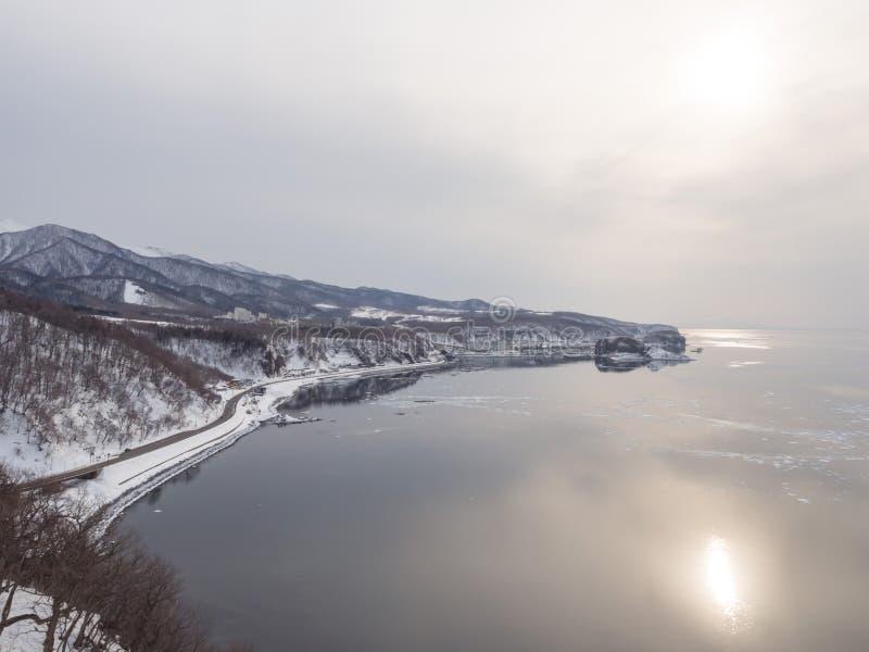 Kaap Puyuni, Utoro-Stad, Shiretoko, Hokkaido, Japan stock foto's