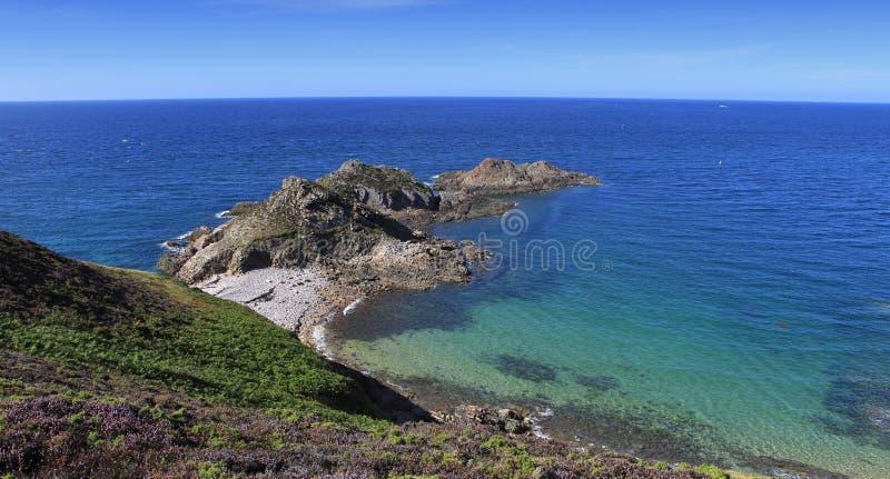 Kaap van Erquy, Bretagne, Frankrijk royalty-vrije stock afbeelding