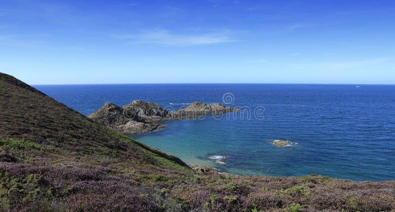 Kaap van Erquy, Bretagne, Frankrijk stock foto