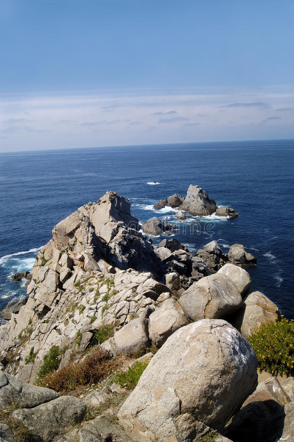 Kaap van Estaca DE Bares, Punta DE Estaca DE Bares royalty-vrije stock afbeelding