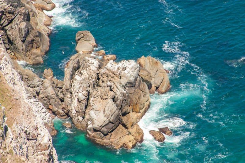 Kaap van Goede Hoop. Kaapschiereiland de Atlantische Oceaan. Cape Town. Zuid-Afrika stock afbeeldingen