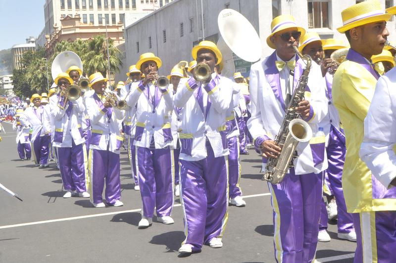 Kaapse Klopse - парад в Кейптауне -2019 стоковое фото