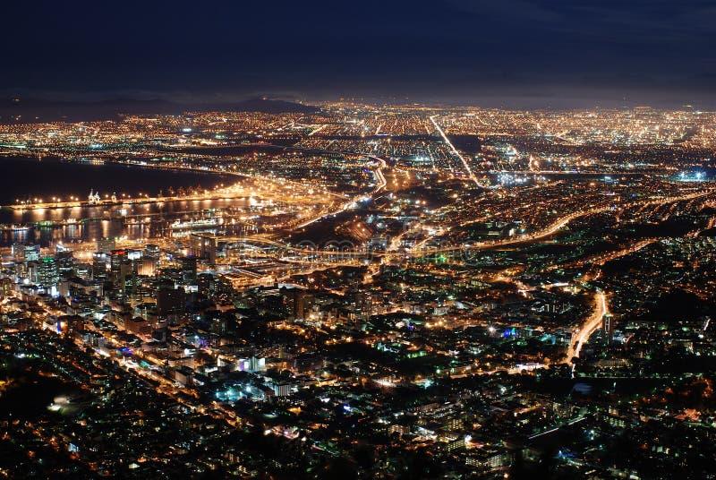 Kaapstad bij Nacht stock foto