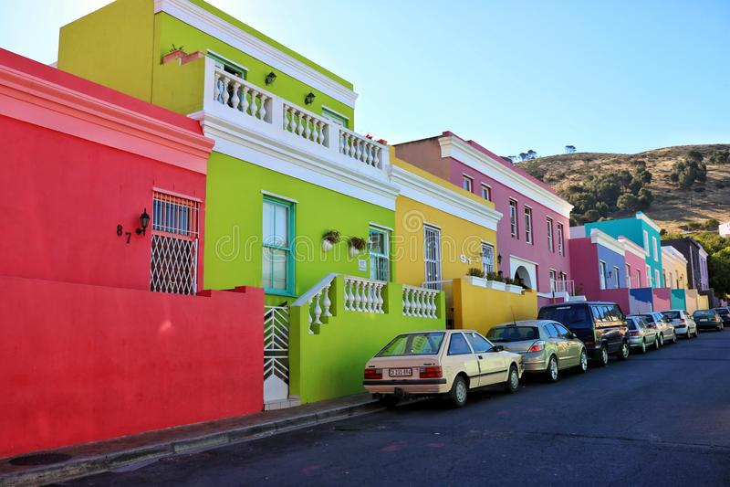Kaapstad van de straatzuid-afrika van BO Kaap stock fotografie