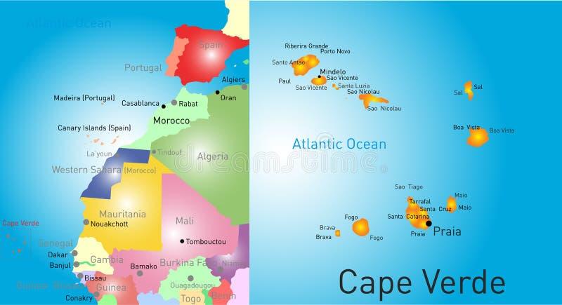 Kaapverdië stock illustratie