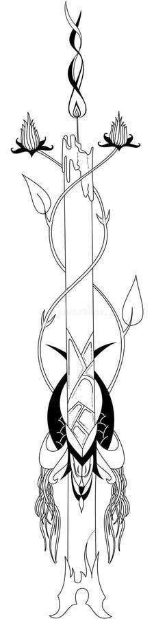 Kaars stock illustratie