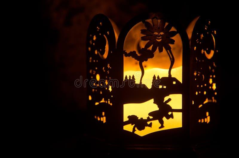 Kaars en Kerstmisdecoratie royalty-vrije stock afbeelding