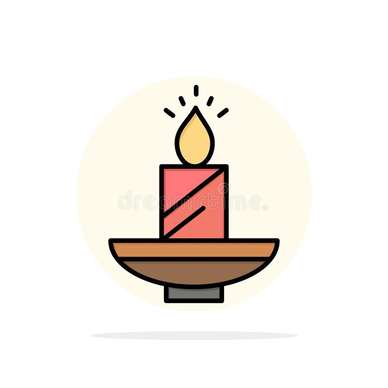 Kaars, Kerstmis, Diwali, Pasen, Lamp, Licht, van de Achtergrond was Abstract Cirkel Vlak kleurenpictogram stock illustratie