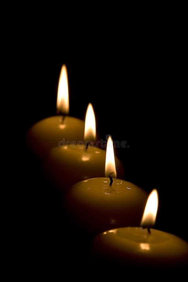 Kaarsen schuin stock afbeeldingen