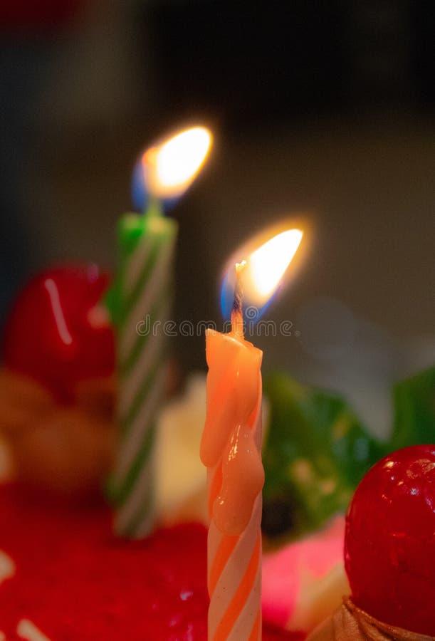 Kaarsen voor de vieringsgebeurtenissen royalty-vrije stock foto's