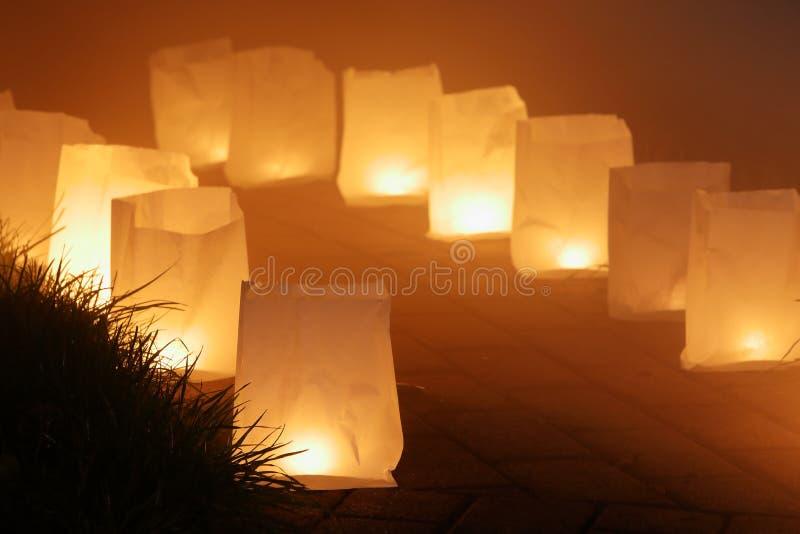 Kaarslicht en lantaarn stock afbeeldingen