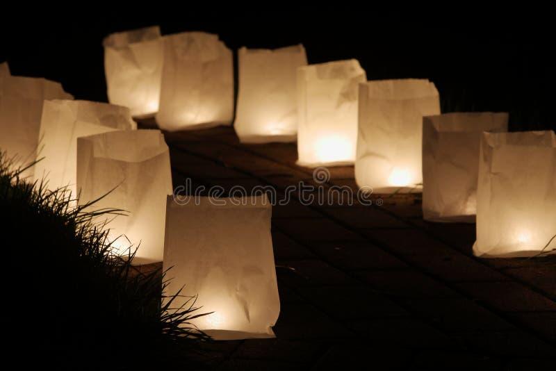 Kaarslicht en lantaarn stock foto's