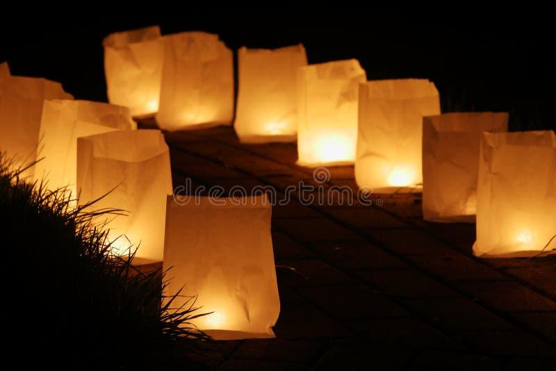 Kaarslicht en lantaarn royalty-vrije stock foto
