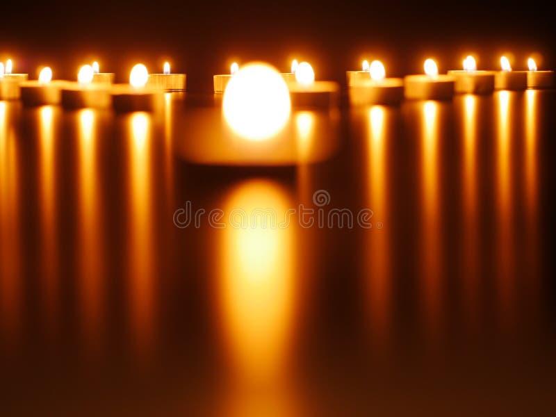 Kaarslichten stock fotografie
