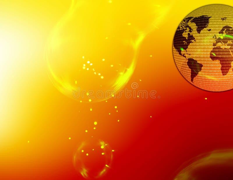 Kaart 01 van de wereld stock illustratie
