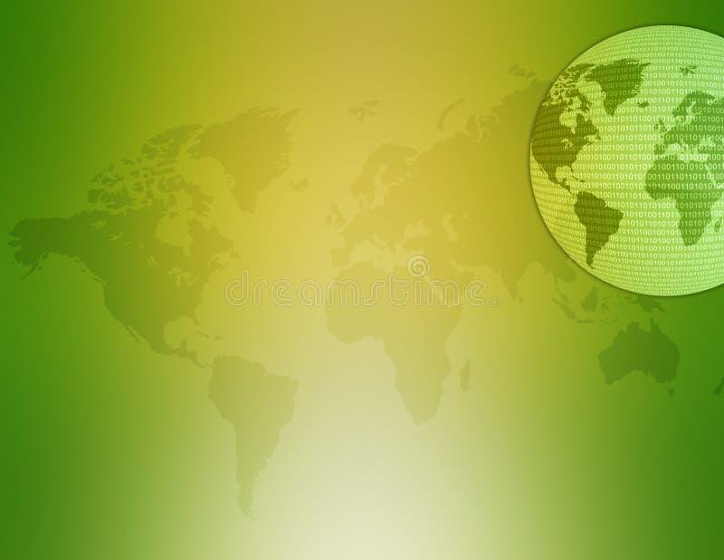 Kaart 02 van de wereld royalty-vrije illustratie