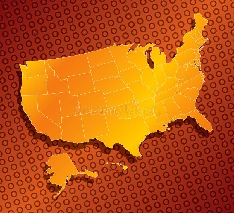 kaart 03 van Verenigde Staten vector illustratie